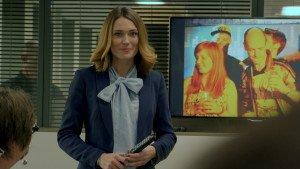 Stefanie Delvaux gespeeld door Charlotte Anne Bongaerts in misdaadserie De Ridder