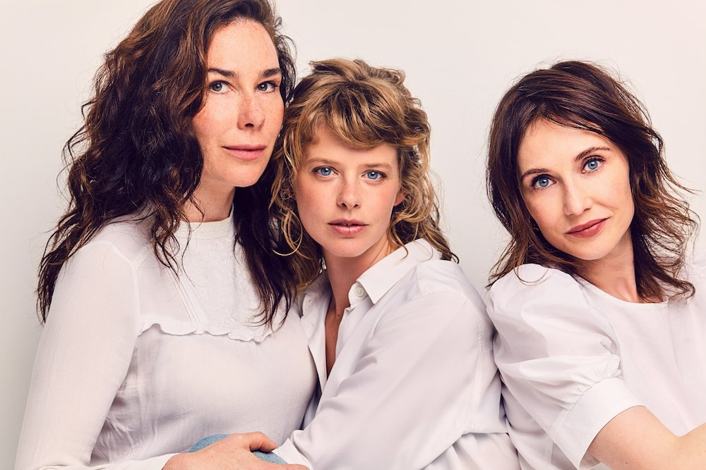 Halina Reijn, Maaike Neuville en Carice van Houten in Red Light. TV-serie BNNVARA en VTM. Foto: Janey van Ierland