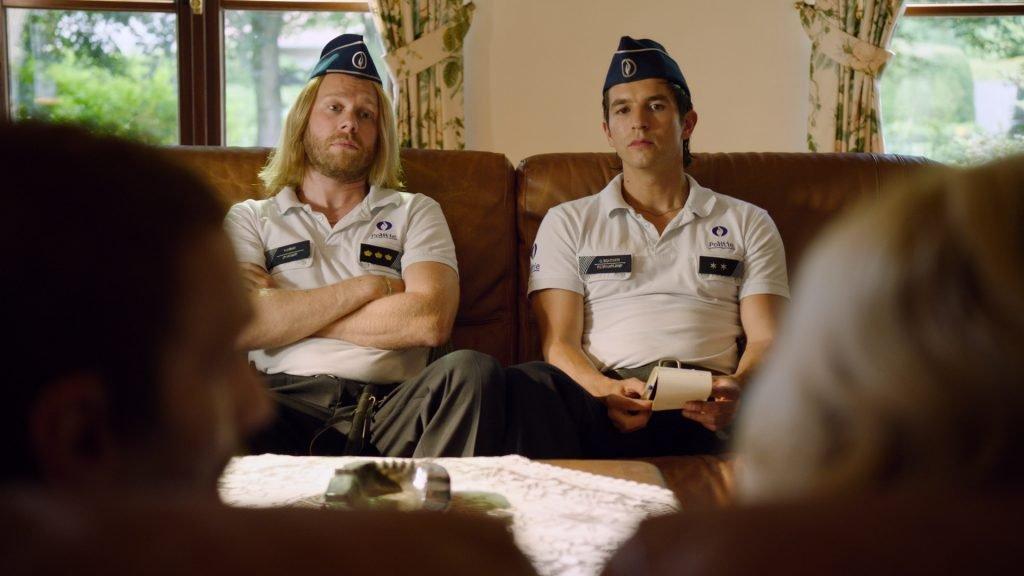 Matteo Simoni en Rik Verheye als politieagenten voor rollenspel