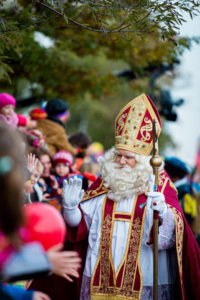 Sinterklaas met publiek in Antwerpen 2019