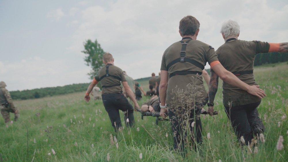 Kamp Waes deelnemers in actie