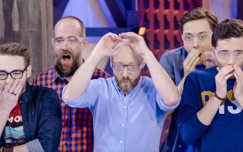 Deelnemers legoshow geschrokken
