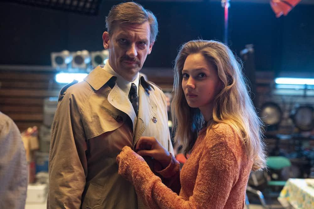 Studio Tarara Peter Van Den Begin (Jean Van Hoof) en Lauren Versnick (Babs Degryse).