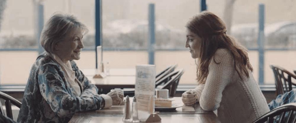 Charlotte De Bruyne en Chris Lomme in de film Achter de wolken van Cecilia Verheyden