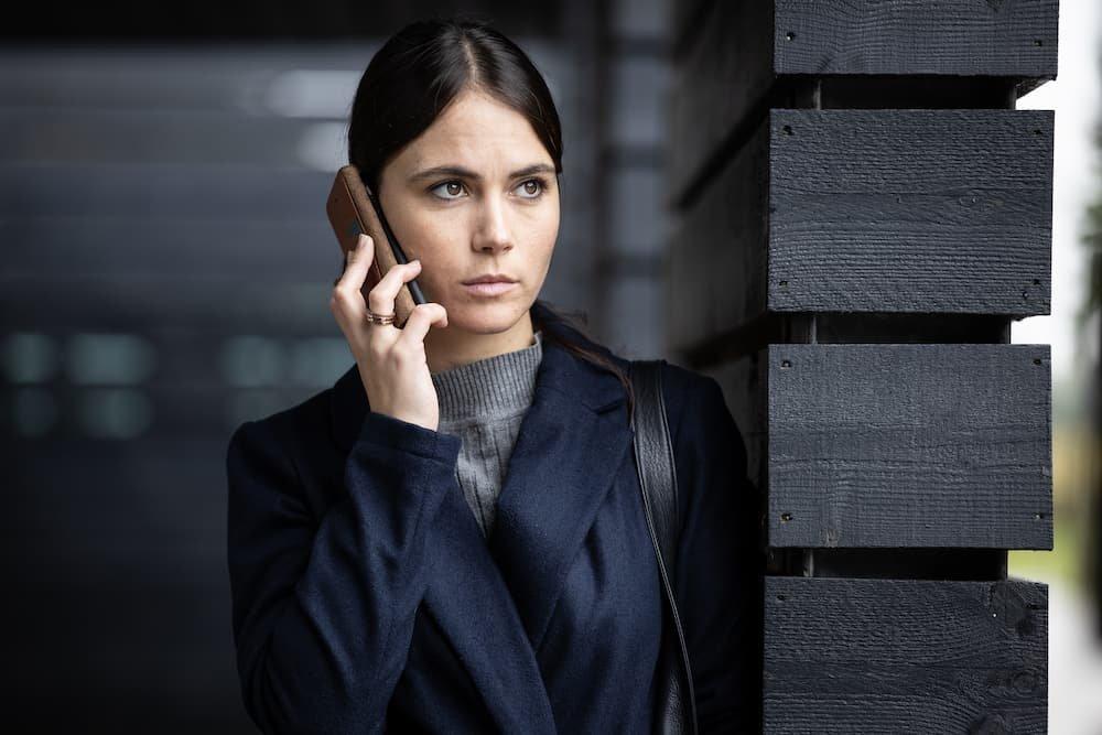 Charlotte Timmers als Isabella De Sutter in Commando's. Foto: Sofie Silbermann.
