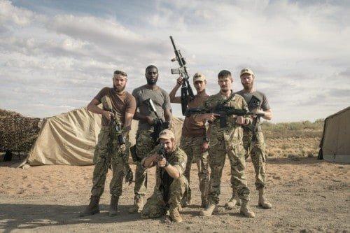Commando's op missie - foto Graham Bartholomew