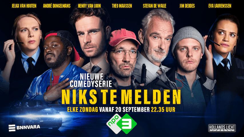 Niks te melden is Nederlandse versie van Niets te Melden (VTM / Streamz)