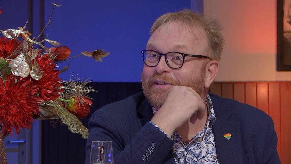 Frits Huffnagel  in First Dates Specials, waarin BN'ers de liefde zoeken