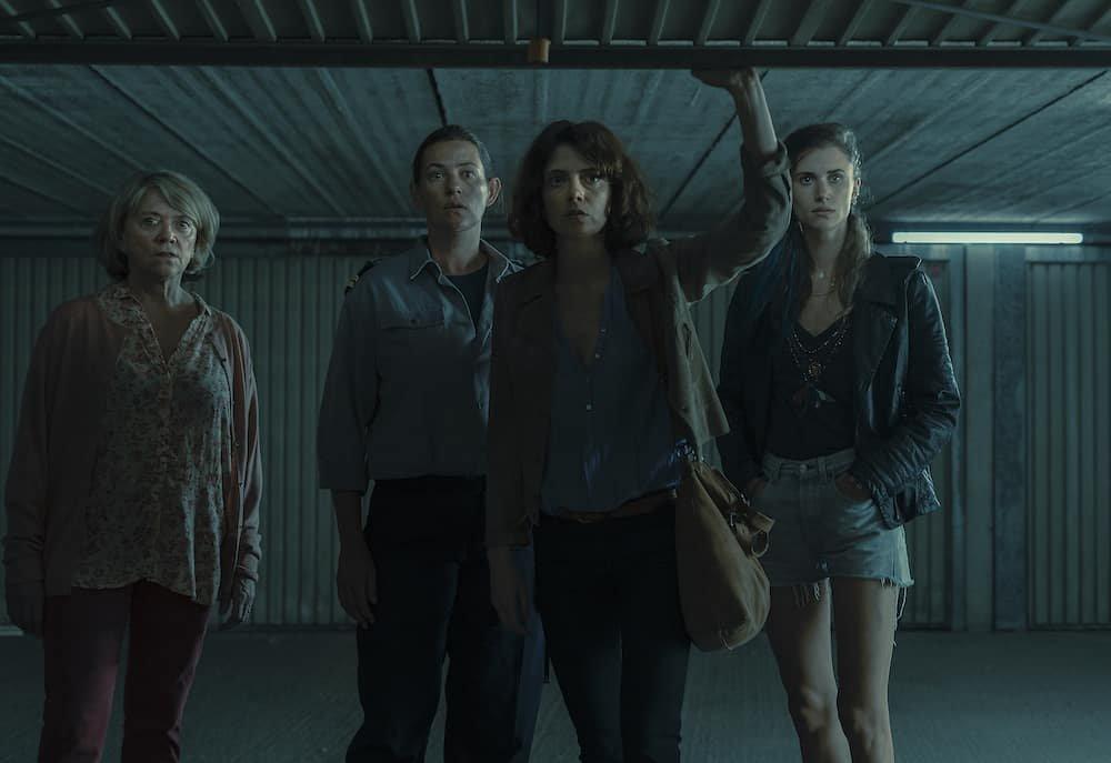 Katelijne Verbeke, Emilie Deroo, Greet Verstraete en Lize Feyn in tweede seizoen Beau Séjour